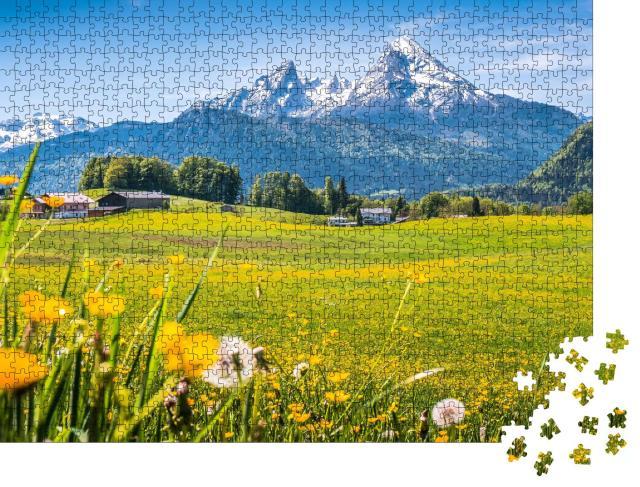 """Puzzle 1000 Teile """"Idyllische Landschaft in den Alpen, Berchtesgadener Land,  Deutschland"""""""