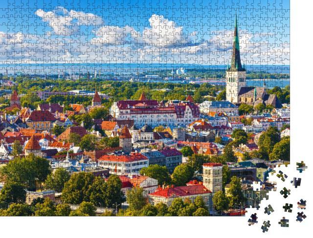 """Puzzle 1000 Teile """"Panorama der Altstadt von Tallinn, Estland"""""""