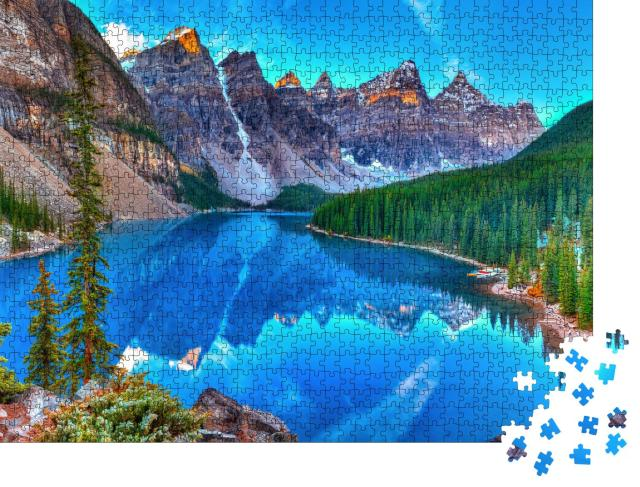 """Puzzle 1000 Teile """"Moräne See Sonnenaufgang in Banff National Park"""""""