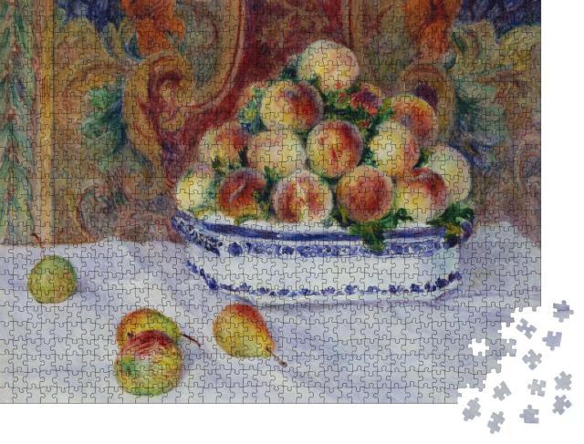"""Puzzle 1000 Teile """"Stillleben mit Pfirsichen, Auguste Renoir 1881"""""""
