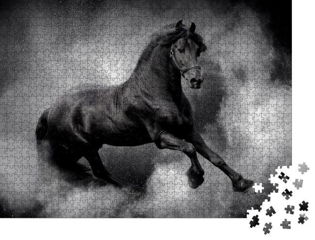 """Puzzle 1000 Teile """"Der Traum von einem starken Pferd"""""""