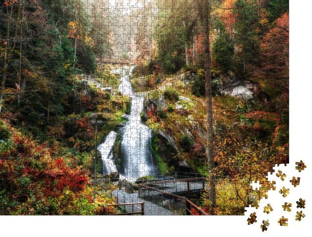 """Puzzle 1000 Teile """"Triberger Wasserfälle, Schwarzwald, Deutschland"""""""