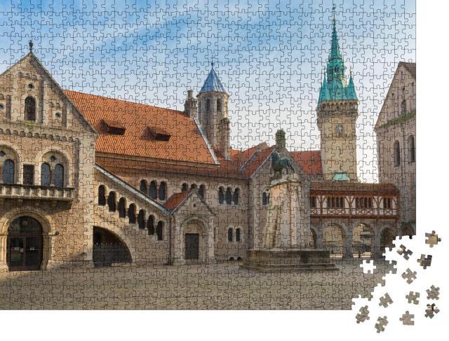 """Puzzle 1000 Teile """"Burgplatz mit Braunschweiger Löwe"""""""