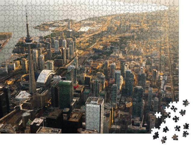 """Puzzle 1000 Teile """"Luftaufnahme der Stadt Toronto in Kanada"""""""