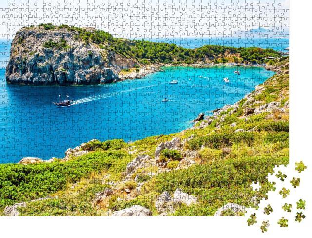 """Puzzle 1000 Teile """"Anthony-Quinn-Bucht auf Rhodos, Mittelmeer, Griechenland"""""""