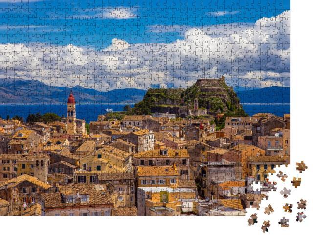 """Puzzle 1000 Teile """"Blick auf die Altstadt von Korfu, Griechenland"""""""
