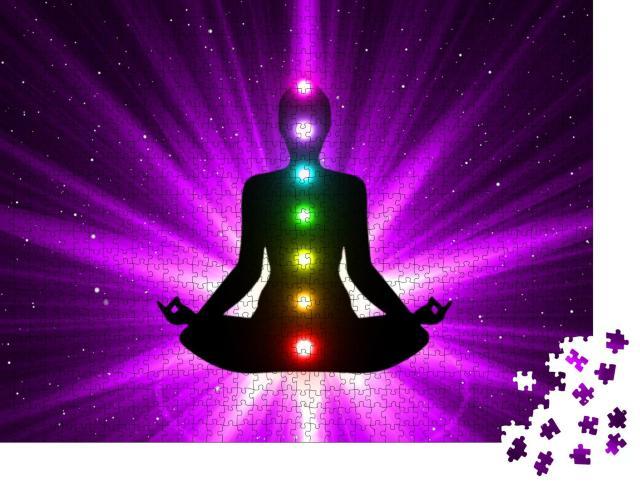 """Puzzle 1000 Teile """"Meditation: Aktivierung von Chakra"""""""