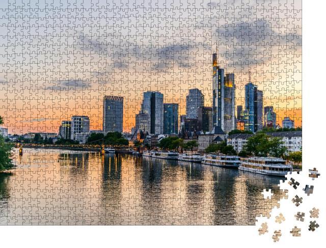 """Puzzle 1000 Teile """"Wunderschöner Blick auf Frankfurt am Main"""""""