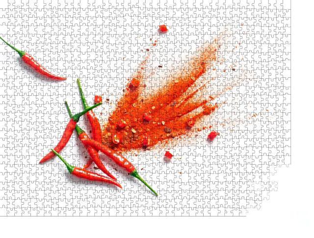 """Puzzle 1000 Teile """"Chili, rote Paprikaflocken und Chilipulver"""""""