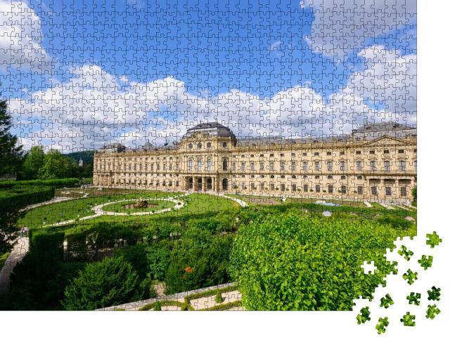 """Puzzle 1000 Teile """"Barocker Schlossbau in Würzburgs Innenstadt: die Residenz von Würzburg"""""""
