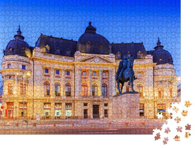 """Puzzle 1000 Teile """"Zentrale Universitätsbibliothek von Bukarest, Rumänien"""""""