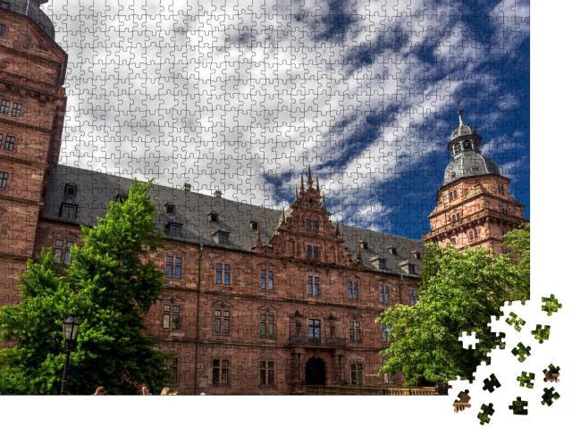 """Puzzle 1000 Teile """"Blick auf das Schloss Johannisburg in Aschaffenburg, Deutschland"""""""