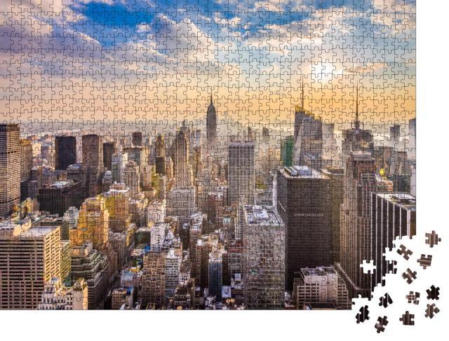 """Puzzle 1000 Teile """"Skyline von New York"""""""