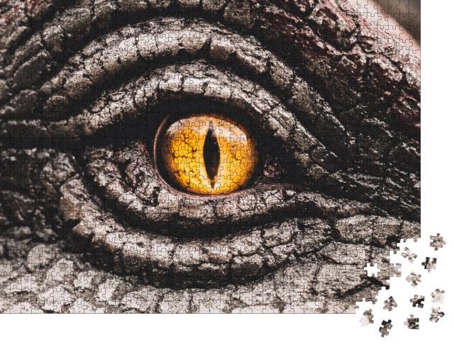 "Puzzle 1000 Teile ""Nahaufnahme: das Auge der Dinosaurier"""