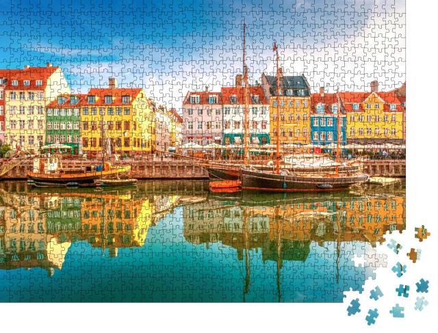 """Puzzle 1000 Teile """"Nyhavn in Kopenhagen"""""""