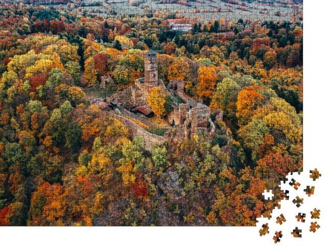 """Puzzle 1000 Teile """"Mittelalterliche Burg Hasistejn in der Nähe des Dorfes Place im Erzgebirge"""""""