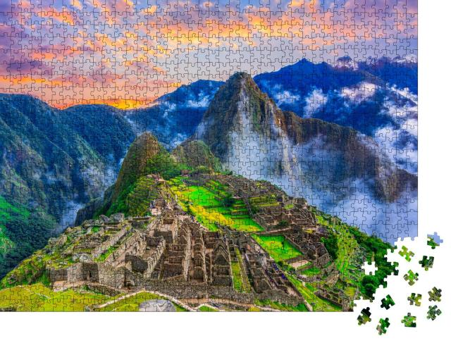 """Puzzle 1000 Teile """"Machu Picchu, Cusco, Peru: verlorene Stadt der Inka"""""""