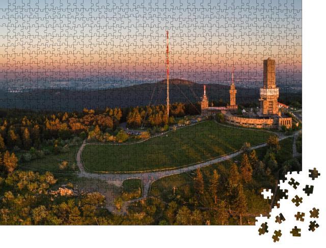 """Puzzle 1000 Teile """"Großer Feldberg, höchste Erhebung des Taunusgebirges in Deutschland"""""""
