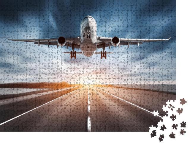 """Puzzle 1000 Teile """"Flugzeug beim Start"""""""