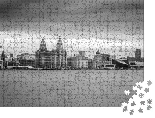 """Puzzle 1000 Teile """"Hafenviertel von Liverpool: Merseyside, England"""""""