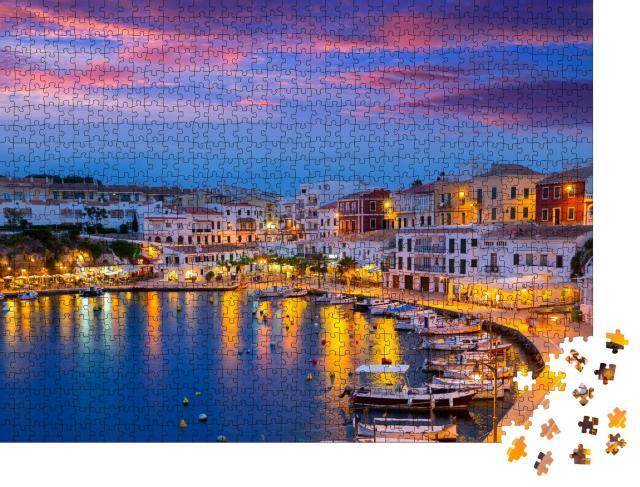 """Puzzle 1000 Teile """"Sonnenuntergang über Mahon auf den Balearen"""""""