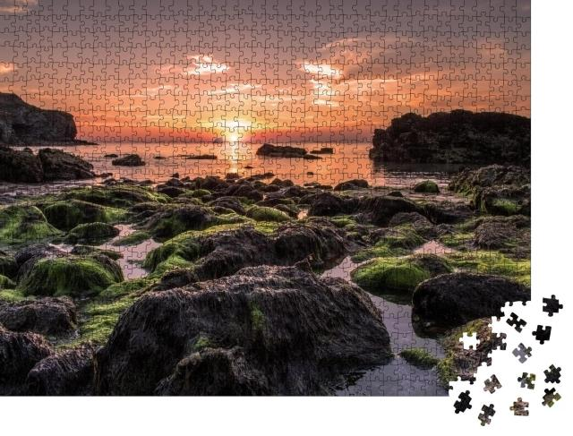 """Puzzle 1000 Teile """"Sonnenuntergang in Cornwall, England"""""""