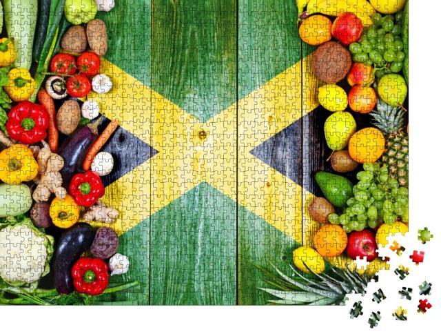 """Puzzle 1000 Teile """"Frisches Obst und Gemüse aus Jamaika"""""""