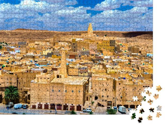 """Puzzle 1000 Teile """"Ksar Bounoura, eine alte Berberstadt im M'Zab-Tal in Algerien"""""""