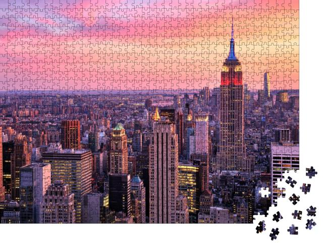 """Puzzle 1000 Teile """"New York City: Midtown mit Empire State Building"""""""