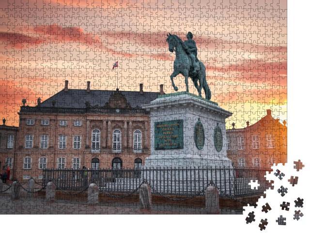 """Puzzle 1000 Teile """"Das königliche Schloss Amalienborg in Kopenhagen"""""""