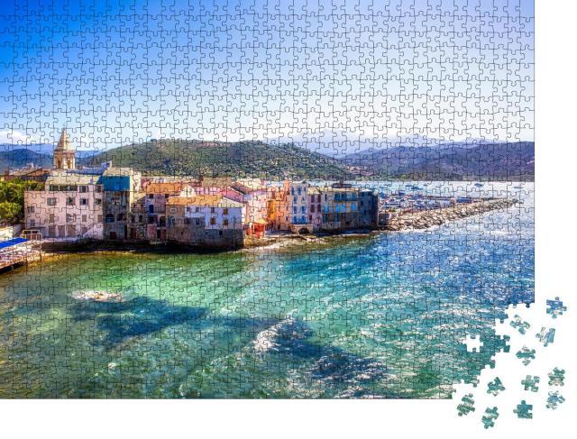 """Puzzle 1000 Teile """"Der alte Teil von Saint-Florent auf Korsika"""""""