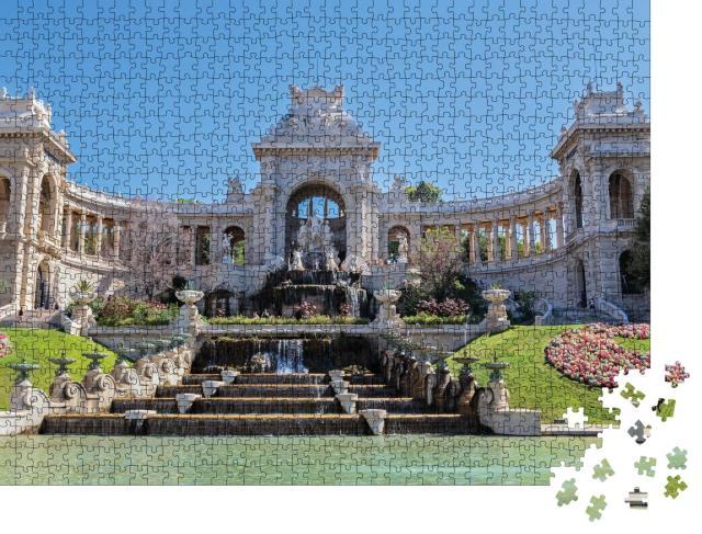 """Puzzle 1000 Teile """"Palais Longchamp in Marseille, Frankreich"""""""