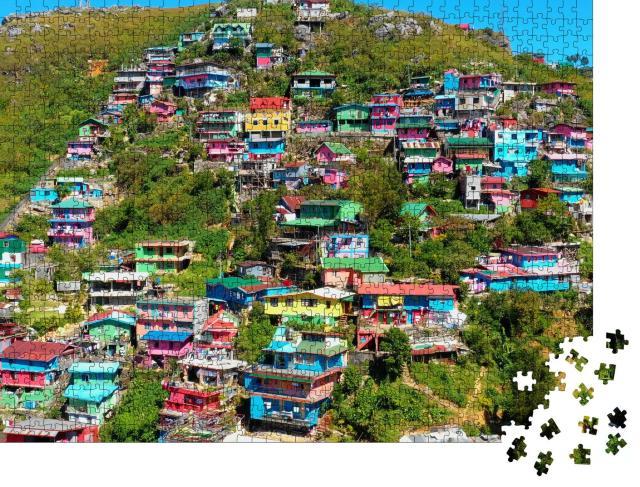 """Puzzle 1000 Teile """"Bunte Häuservon La Trinidad, Philippinen"""""""