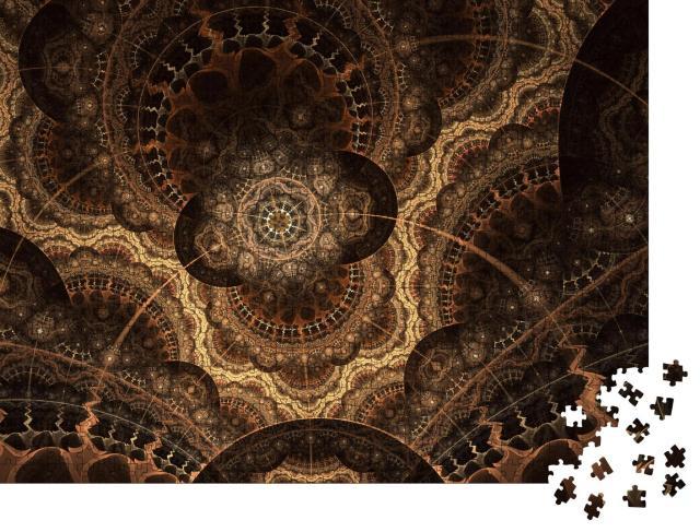 """Puzzle 1000 Teile """"Digitale Kunst: Detaillierter fraktaler Sternenhimmel"""""""