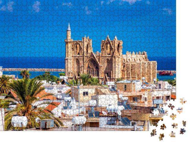 """Puzzle 1000 Teile """"Lala Mustafa Pascha Moschee, Famagusta, Zypern"""""""