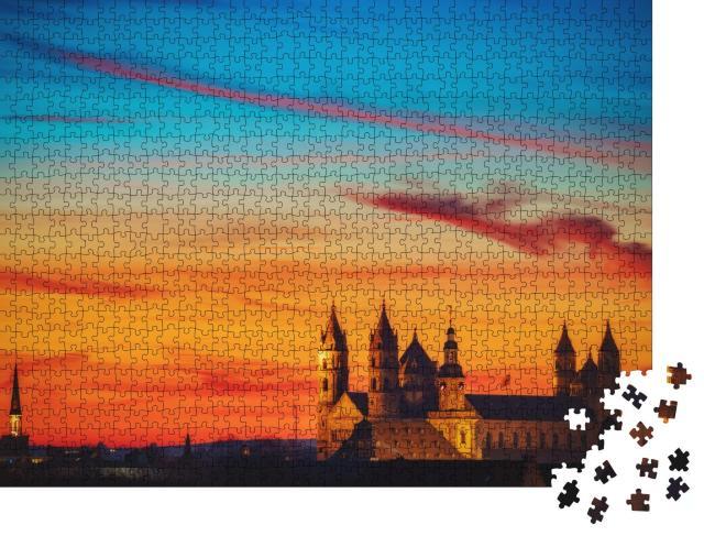 """Puzzle 1000 Teile """"St. Peter Dom in der Abenddämerung, Worms"""""""