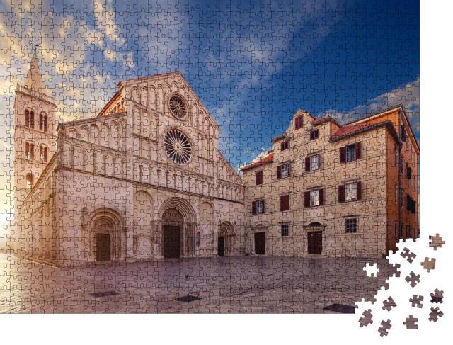 """Puzzle 1000 Teile """"Kathedrale der Heiligen Anastasia, Zadar, Kroatien"""""""