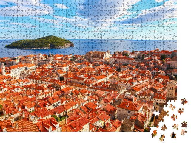 """Puzzle 1000 Teile """"Altstadt der Stadt Dubrovnik an der Adria, Kroatien"""""""