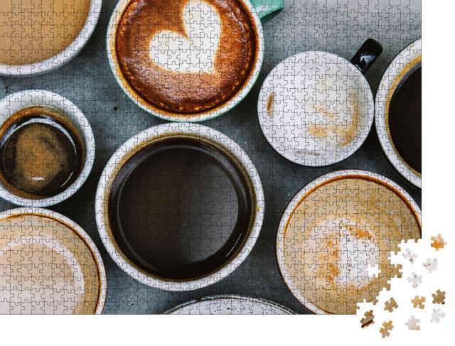 """Puzzle 1000 Teile """"Eine Auswahl an Kaffeetassen"""""""