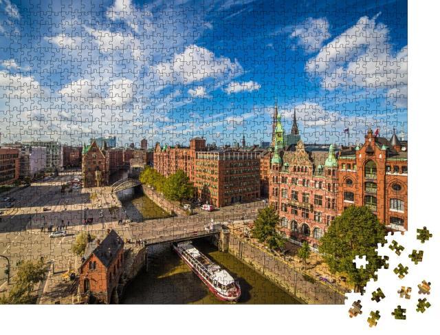 """Puzzle 1000 Teile """"Hamburgs Speicherstadt: Weltkulturerbe in Deutschland"""""""