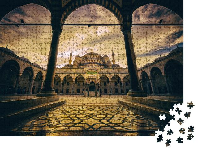 "Puzzle 1000 Teile ""Vintage-Stil der Sultan-Ahmed-Moschee, Istanbul"""