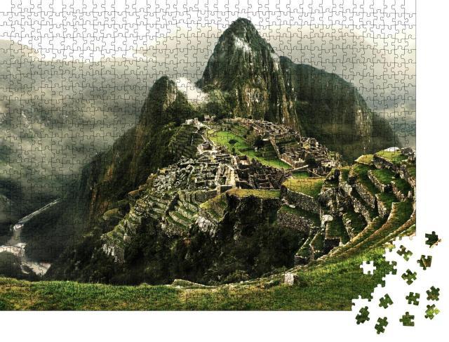 """Puzzle 1000 Teile """"Machu Picchu mit dem Fluss Urubamba, Peru"""""""
