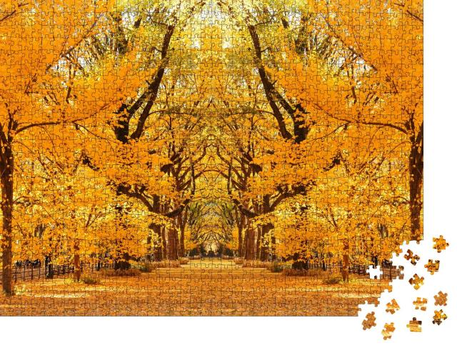 """Puzzle 1000 Teile """"Central Park Herbst in Midtown Manhattan New York City"""""""