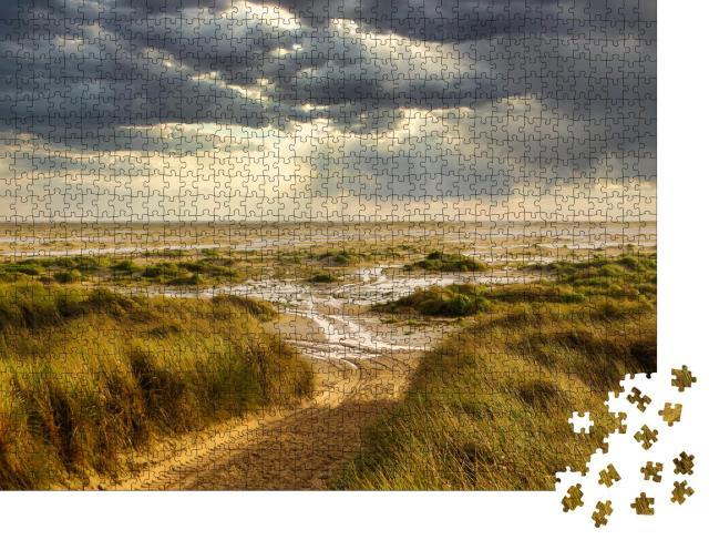 """Puzzle 1000 Teile """"Dünen am Strand von Amrum, Deutschland"""""""