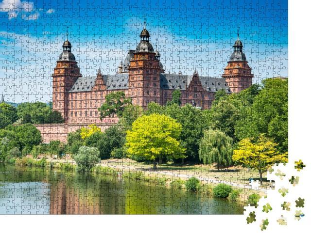"""Puzzle 1000 Teile """"Schloss Johannisburg nahe Frankfurt, Deutschland"""""""
