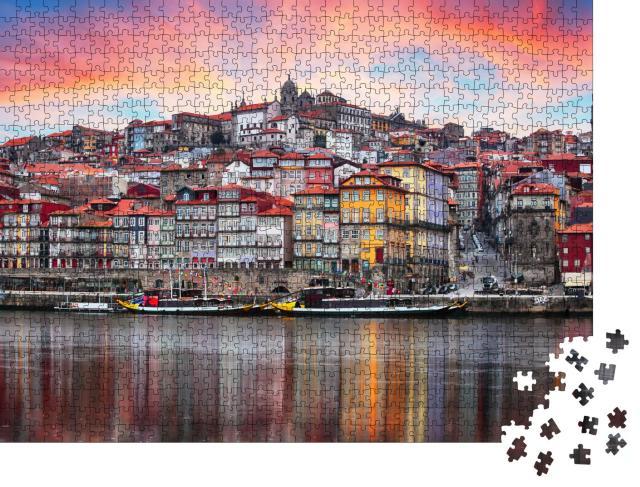 """Puzzle 1000 Teile """"Blick auf die Altstadt von Porto in Portugal"""""""