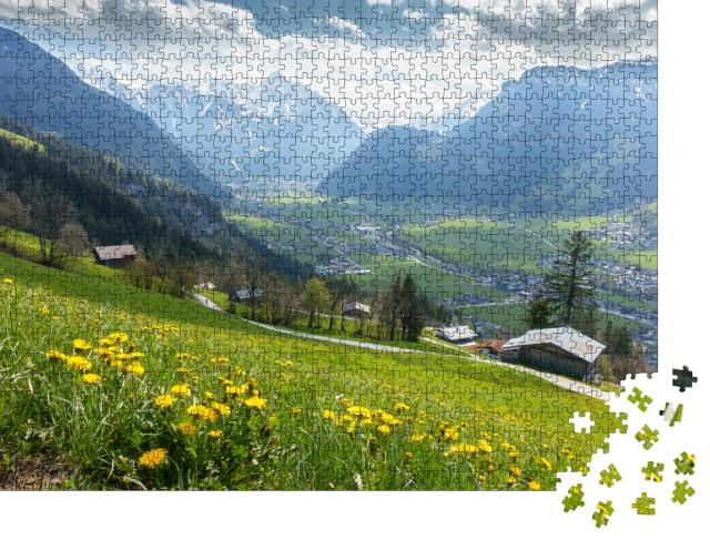 """Puzzle 1000 Teile """"Blick auf das Tiroler Zillertal"""""""