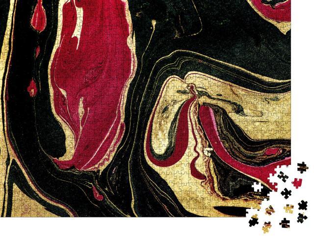 """Puzzle 1000 Teile """"Suminagashi - die alte Kunst des japanischen Marmorierens"""""""