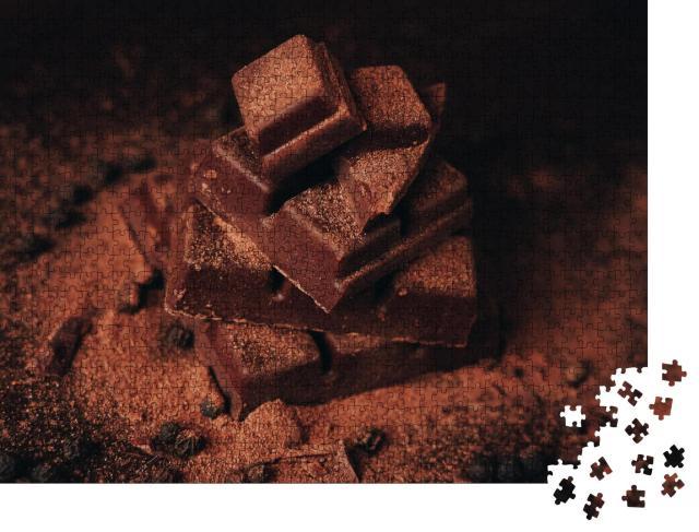"""Puzzle 1000 Teile """"Zartbittere Schokolade mit Zimt"""""""