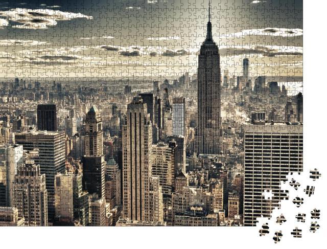 """Puzzle 1000 Teile """"HDR-Aufnahme von New York"""""""
